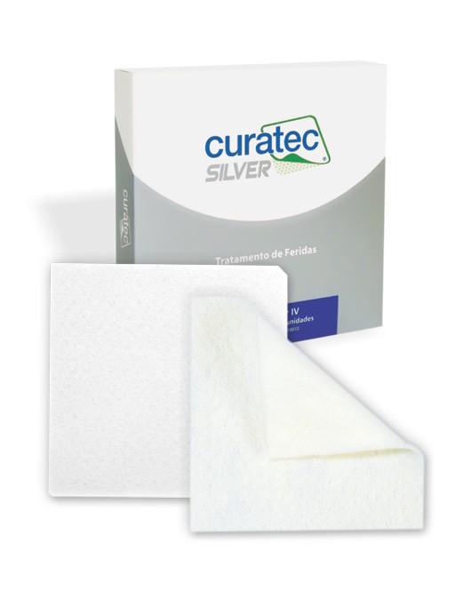 Curatec Silver IV – Alginato de Cálcio com Prata – 10 cm x 10 cm