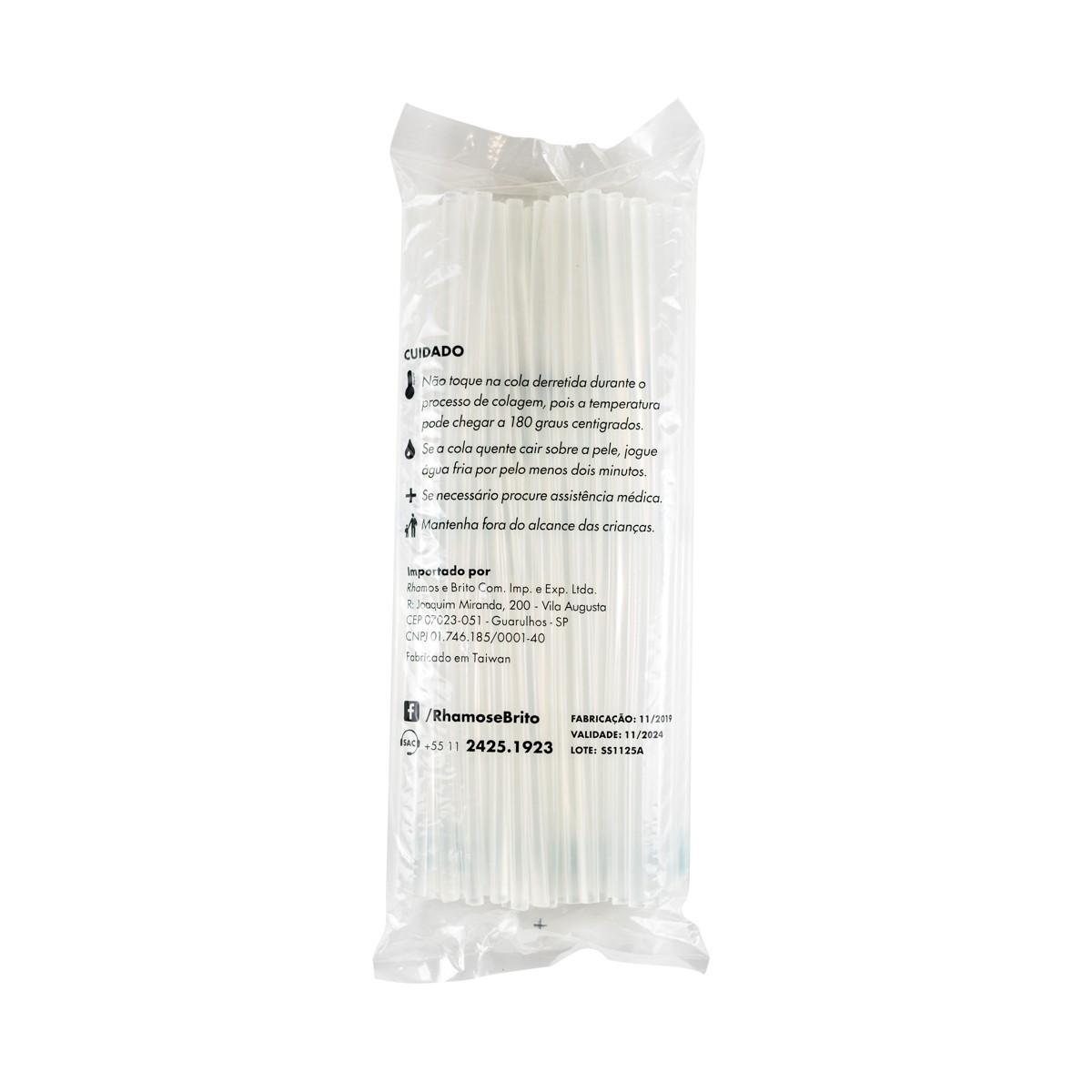 Bastões de Cola Quente Transparente (106M) - Fino