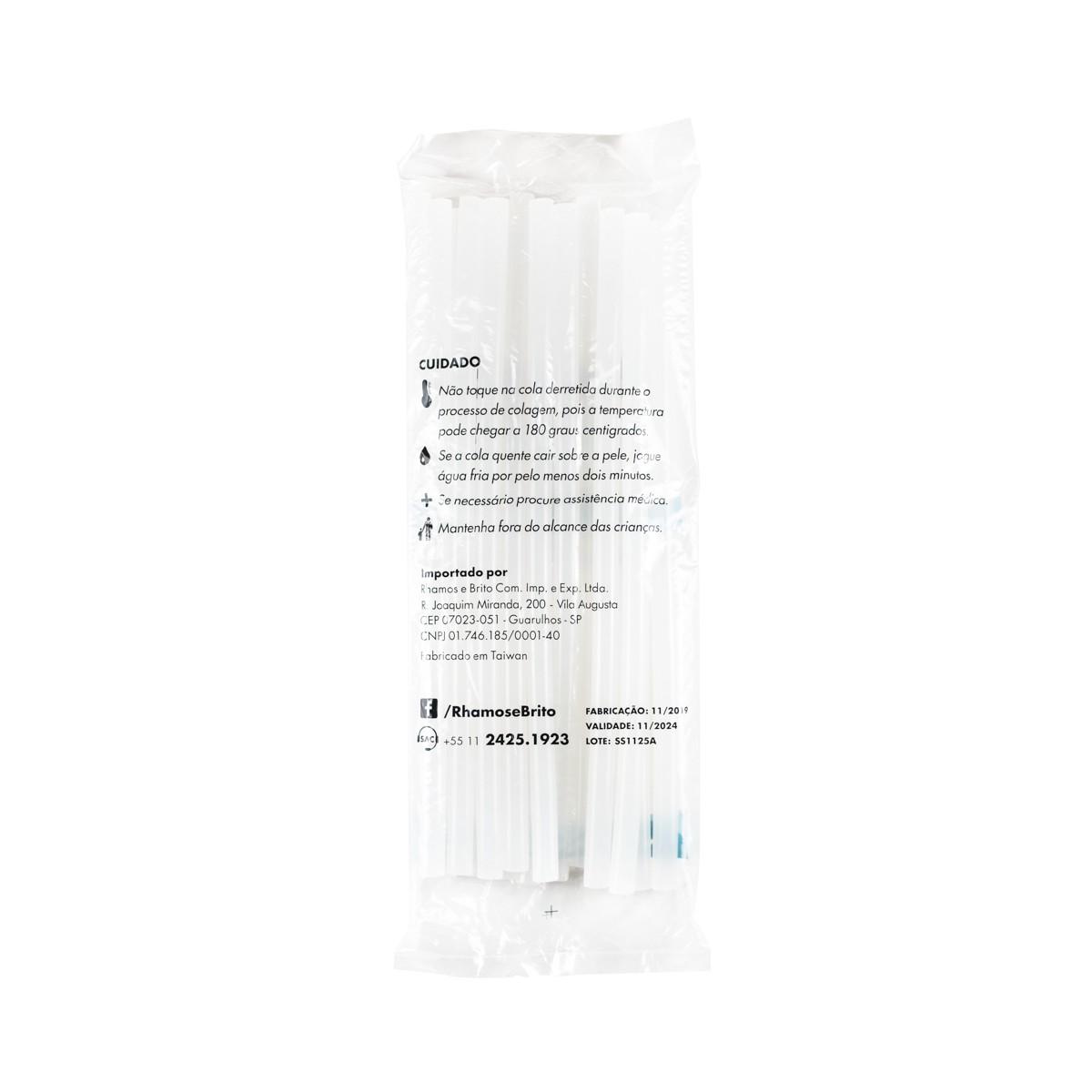 Bastões de Cola Quente Branco (Supramelt 1101) - Grosso 11,5mm x 30 cm (500gr)