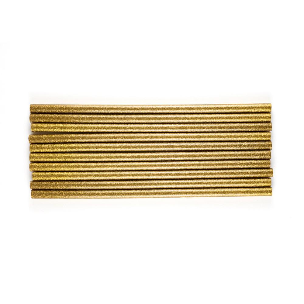 Bastões de Cola Quente Glitter Dourado - Grosso (10 und)