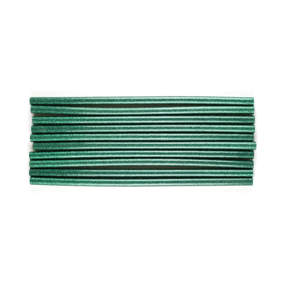 Bastões de Cola Quente Glitter Verde - Grosso (10 und)
