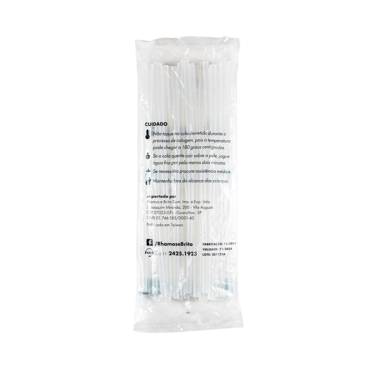 Bastões de Cola Quente Branco (Supramelt 7501M) - Fino 7,5mm x 30 cm (500gr)