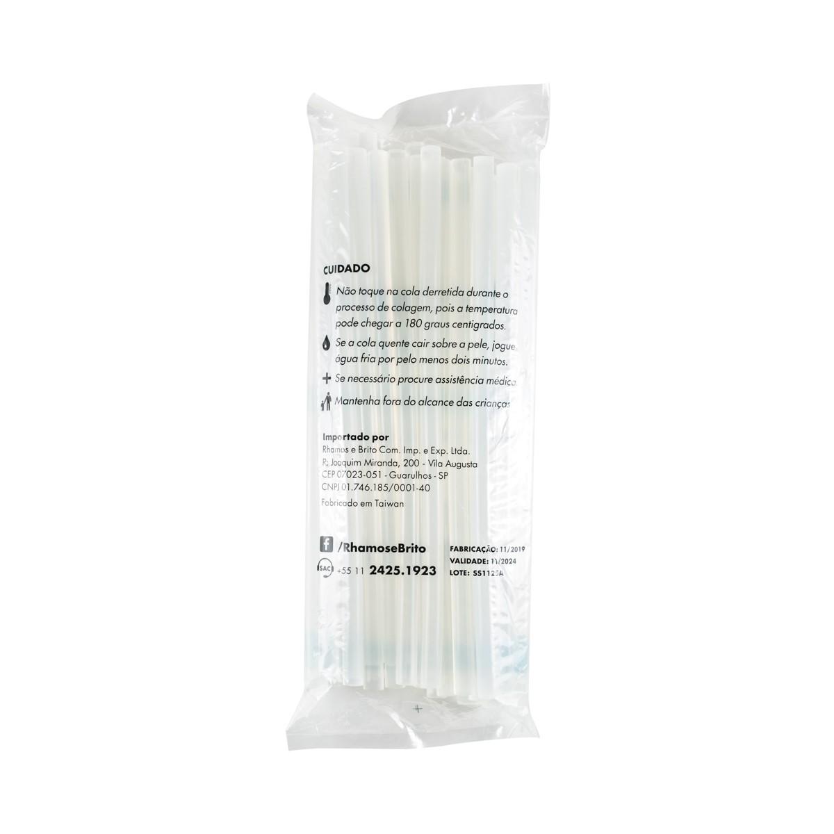 Bastões de Cola Quente Transparente (Supramelt 1106) - Grosso 11,5mm x 30 cm