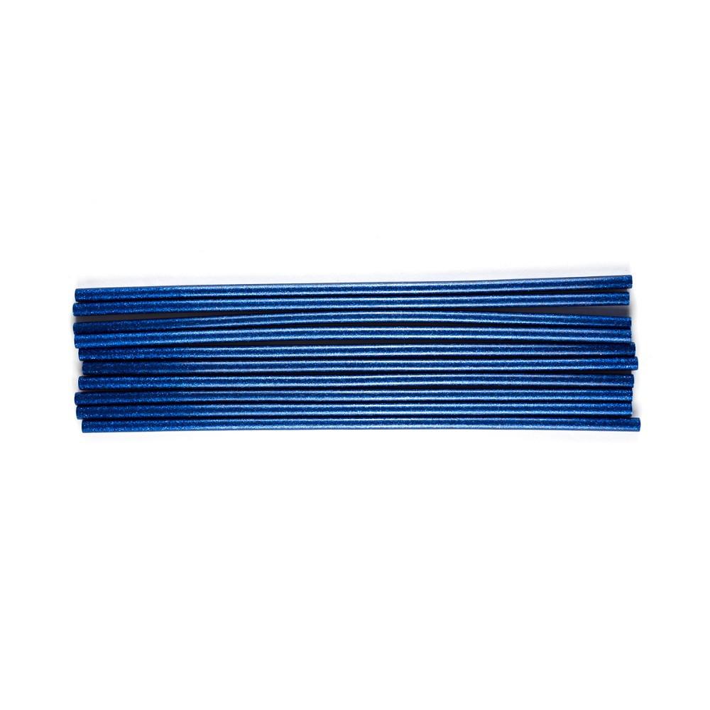 Bastões de Cola Quente Glitter Azul (Supramelt 7501A) - Fino 7,5mm x 30 cm (10uni)
