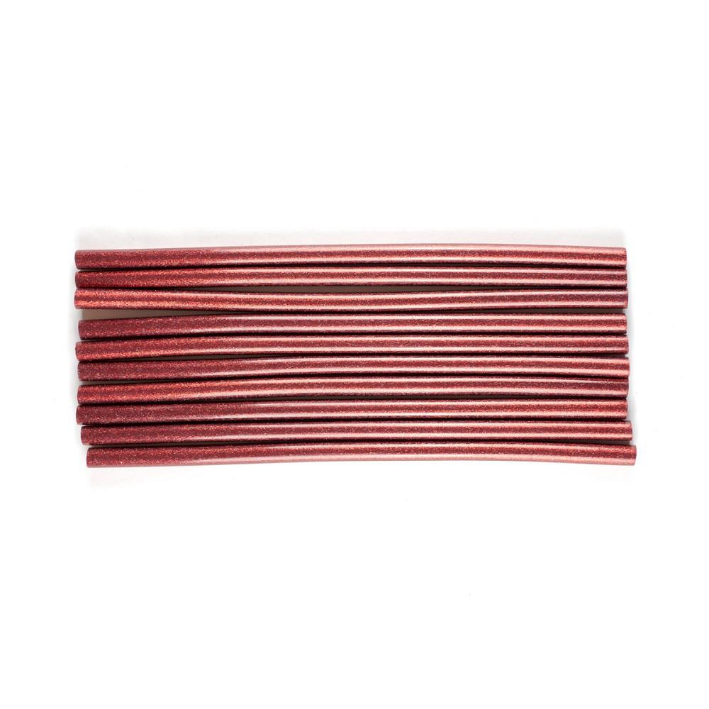 Bastões de Cola Quente Glitter Vermelho (Supramelt 1101VM) - Grosso 11,5mm x 30 cm (10uni)