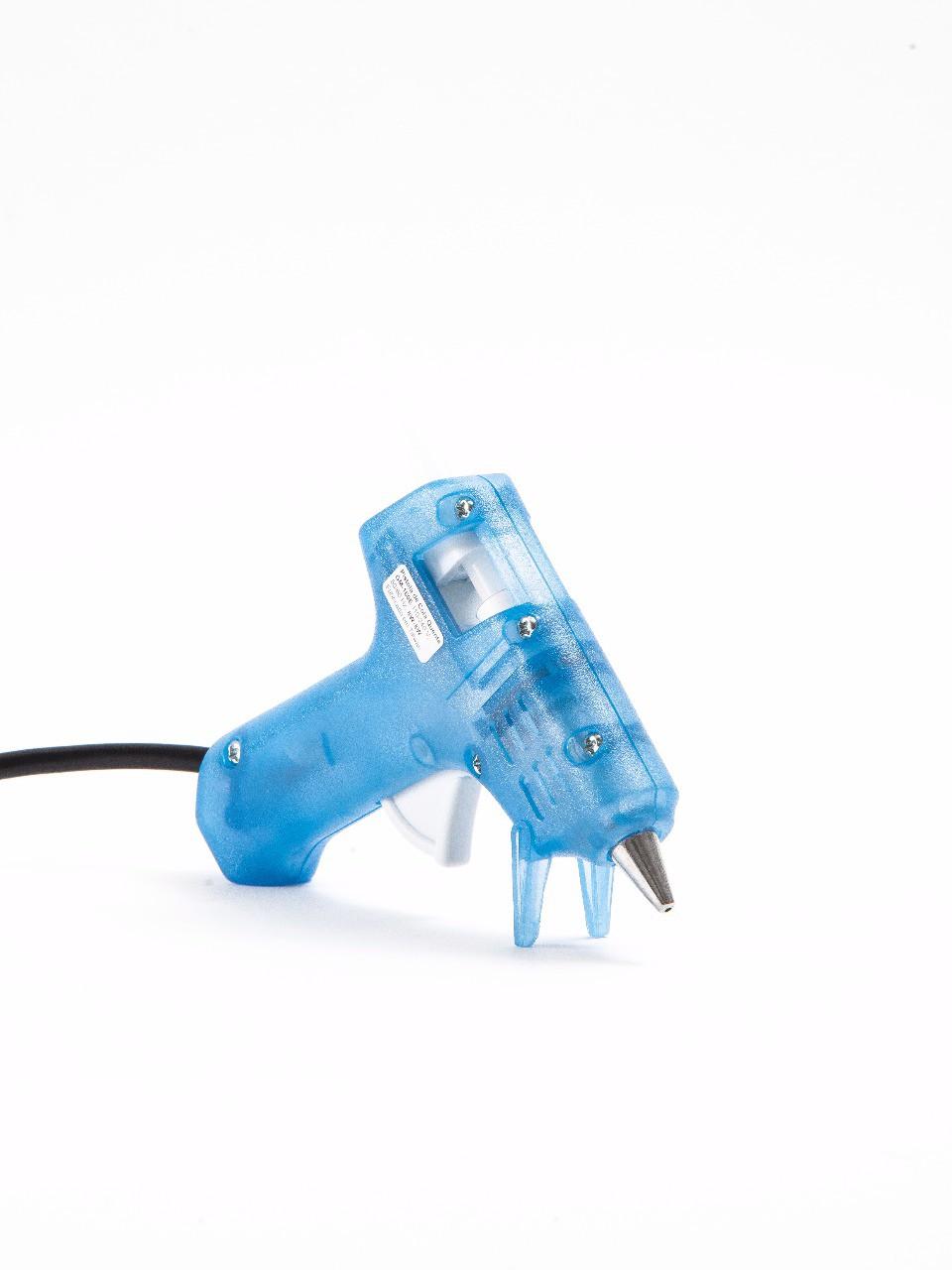 Pistola de Cola Quente Fina Artesanal 8W/20W - GM-160E Azul (Bastão de Cola Quente Fino 7,5mm)