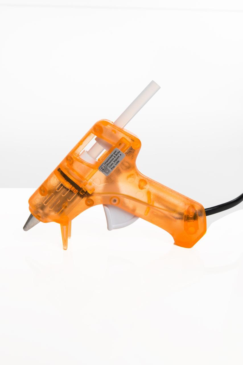 Pistola de Cola Quente (fina) GM-160E Laranja