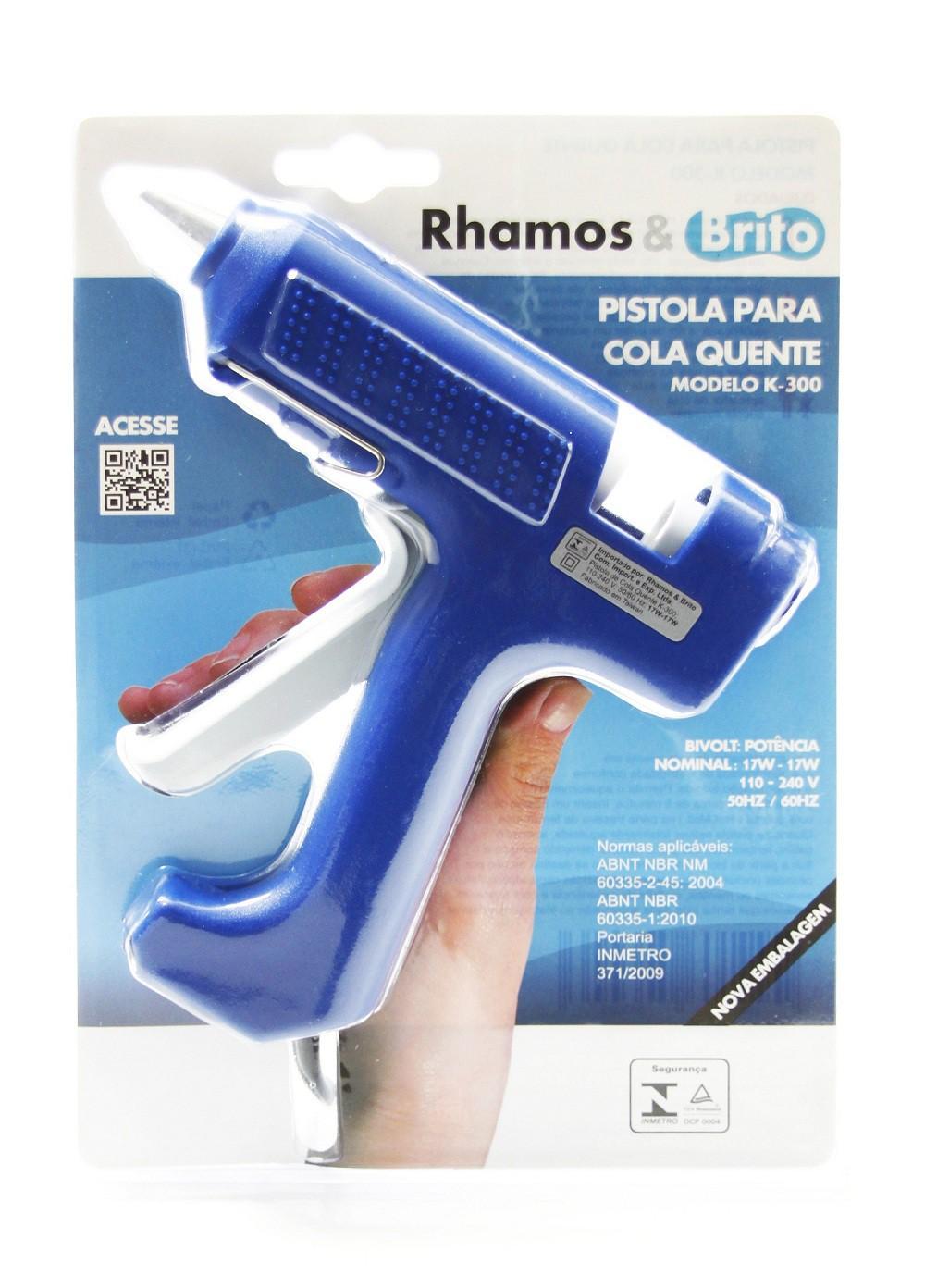Pistola de Cola Quente Hobby 17W/40W- K-300 (Bastão de Cola Quente Grossa 11.5mm)