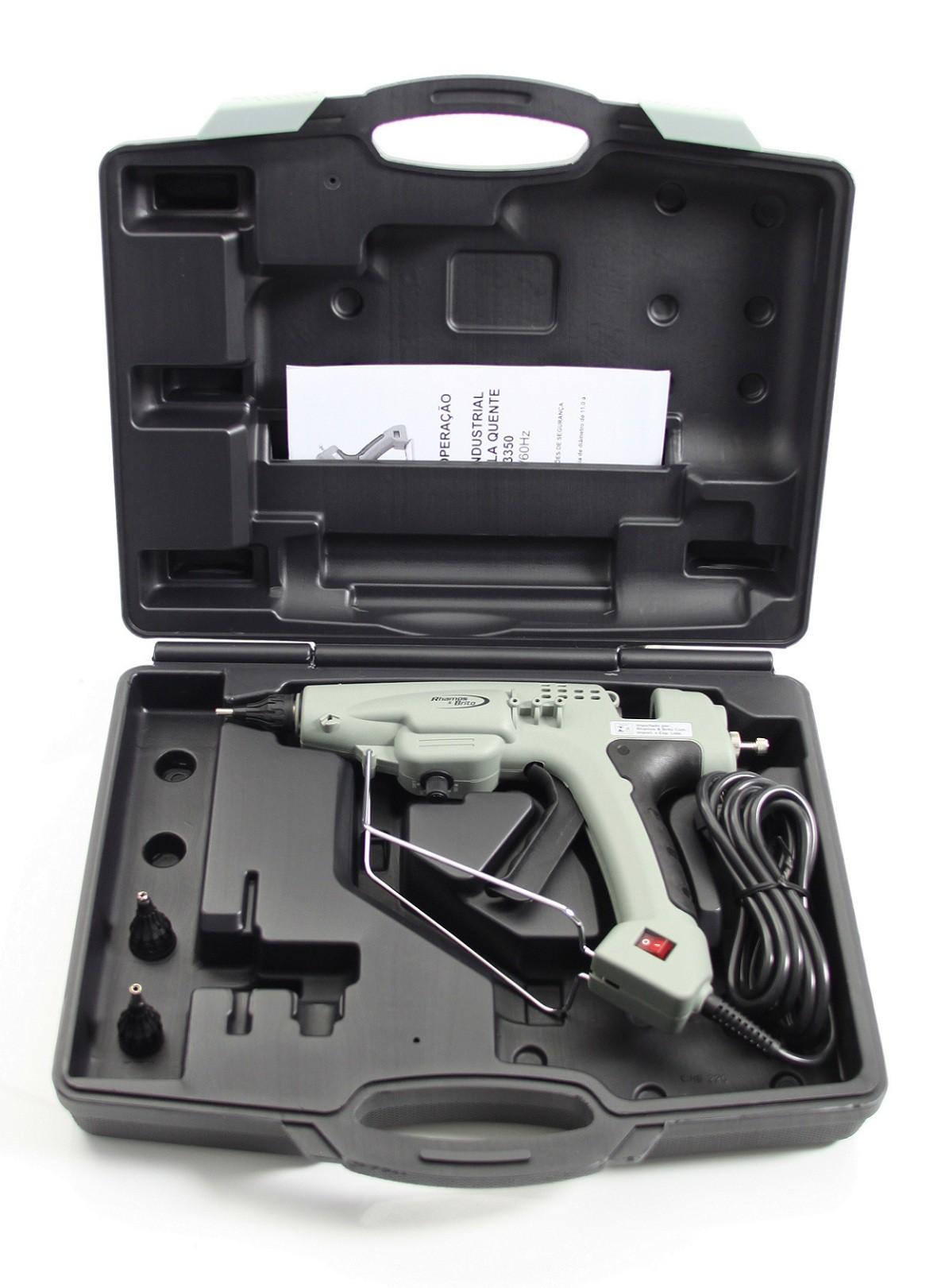 Pistola de Cola Quente Grossa Industrial 300W - K-3350 (Bastão de Cola Quente grosso 11,5mm)