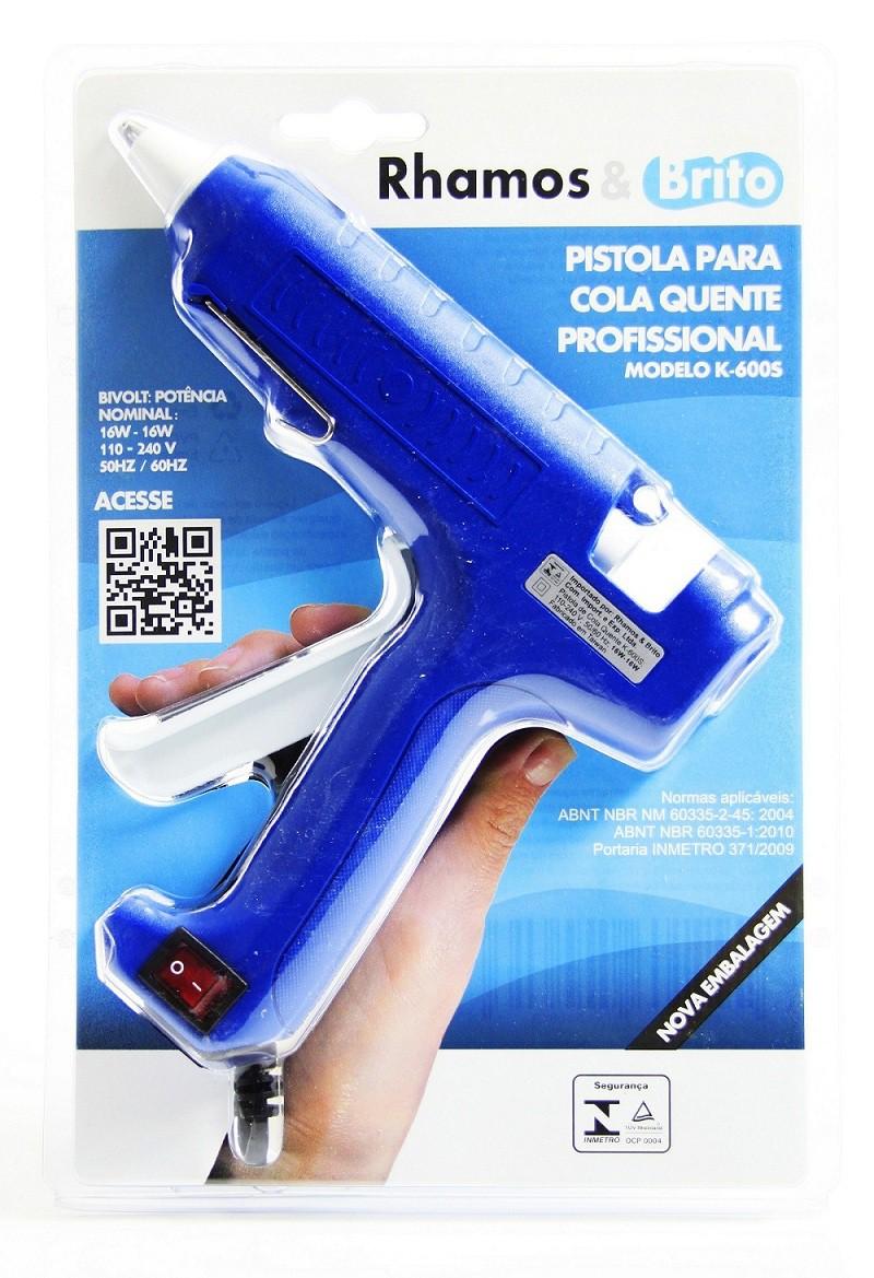 Pistola de Cola Quente Hobby 16W/60W - K-600S (Bastão de Cola Quente Grossa 11.5mm)