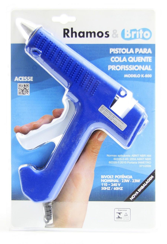 Pistola de Cola Quente Profissional 23W/80W - K-800 (Bastão de Cola Quente Grossa 11.5mm)