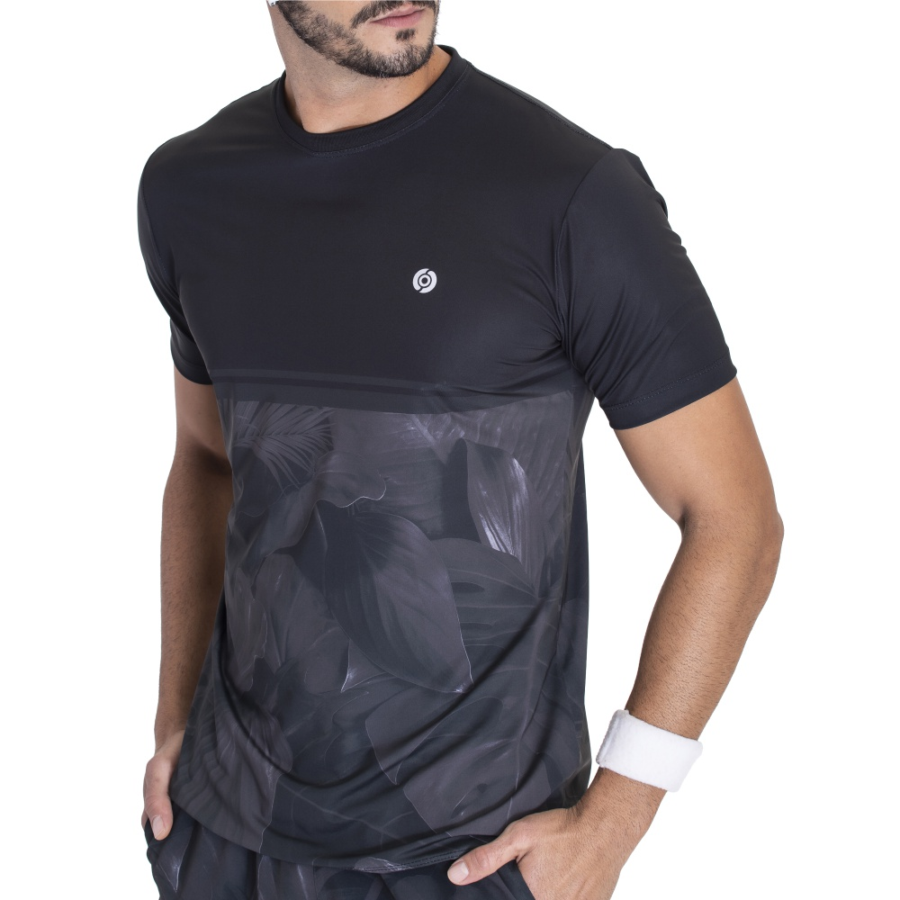 Camiseta Dry Elastic Onisports Masculina Be Kind Nature - Preta