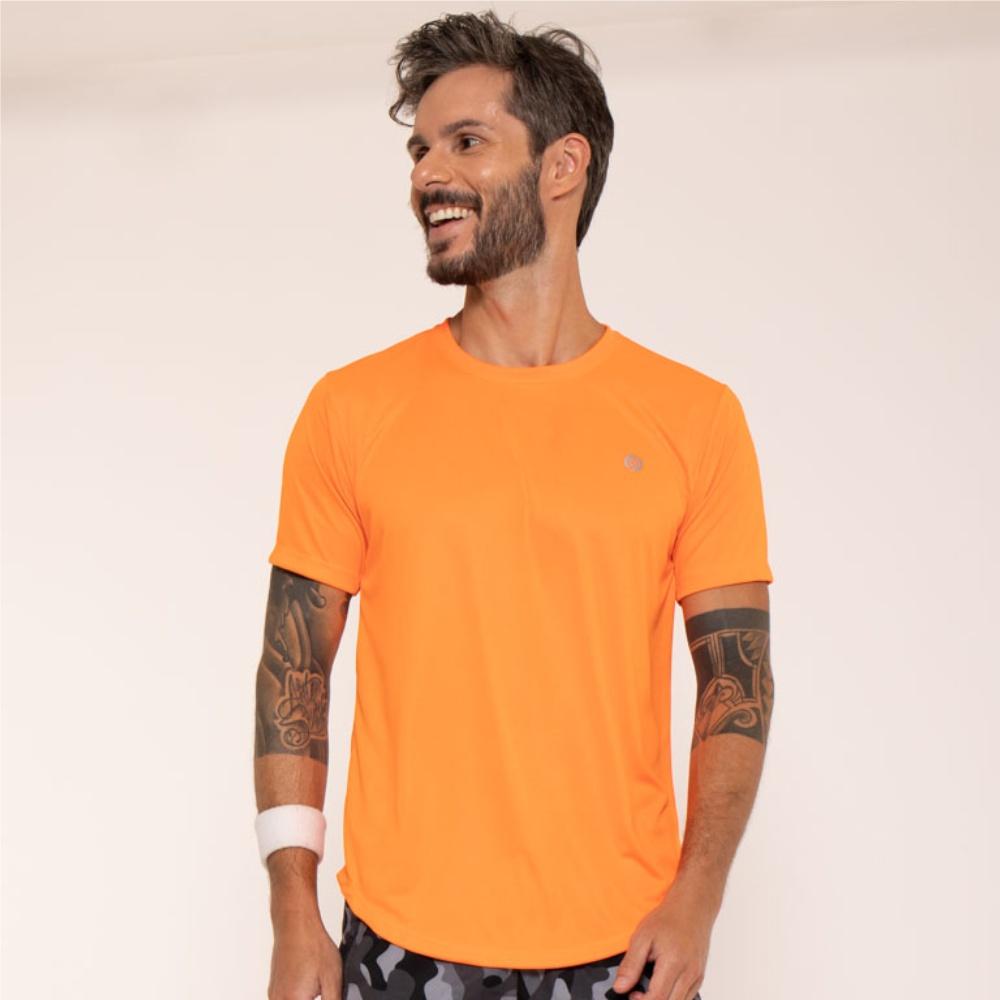 Camiseta Dry Onisports Masculina Basic - Laranja