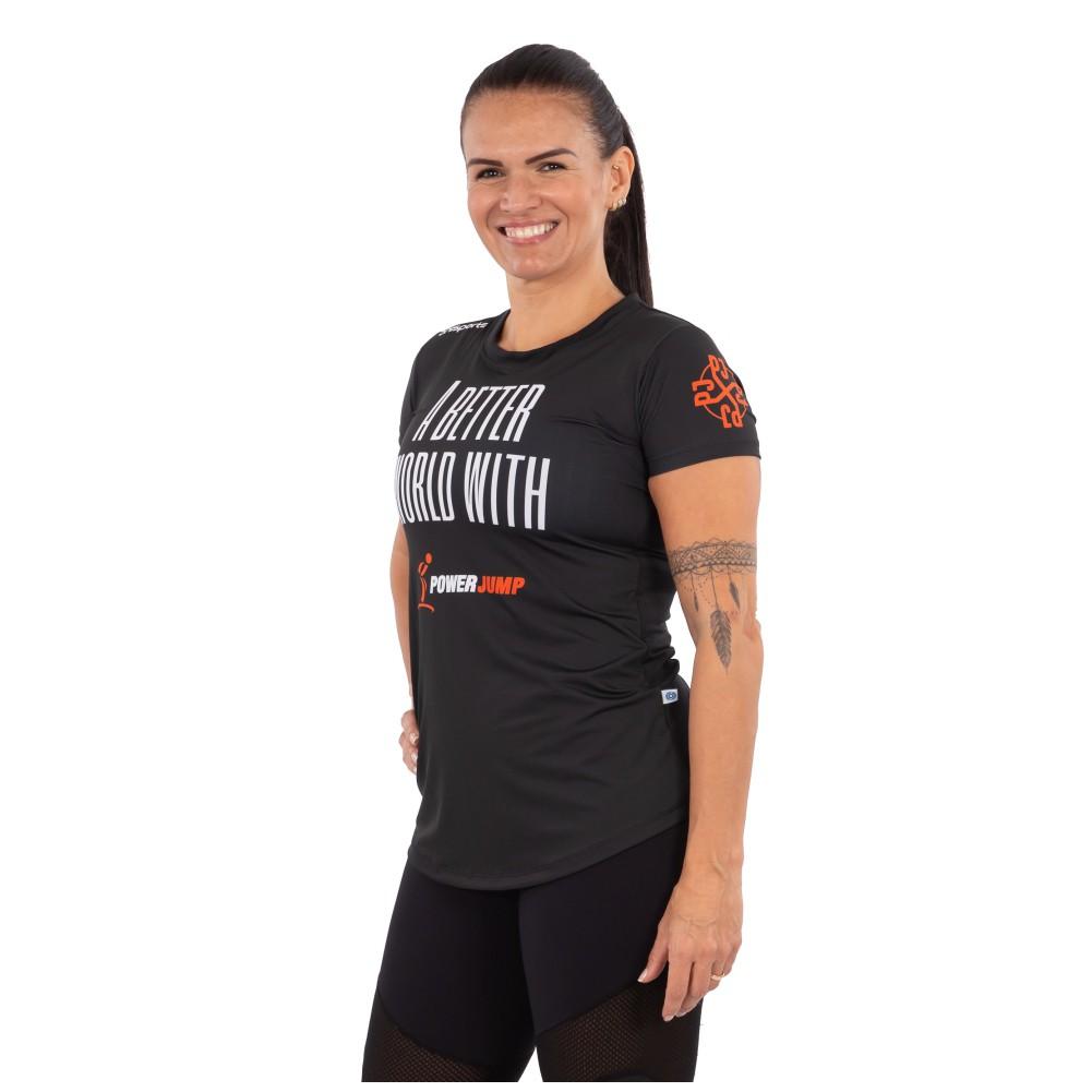 Camiseta Feminina Power Jump United Preta