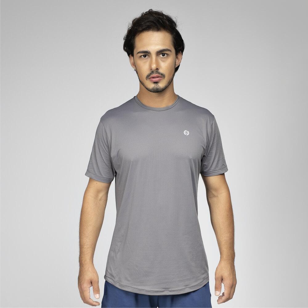 Camiseta Masculina Poliamida Walk 50 Grafite
