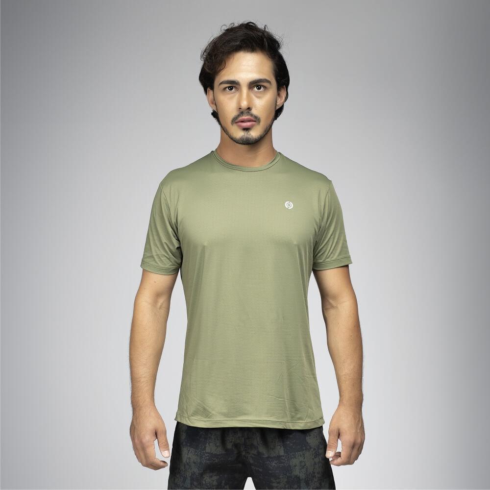 Camiseta Masculina Poliamida Walk 50 Verde Militar