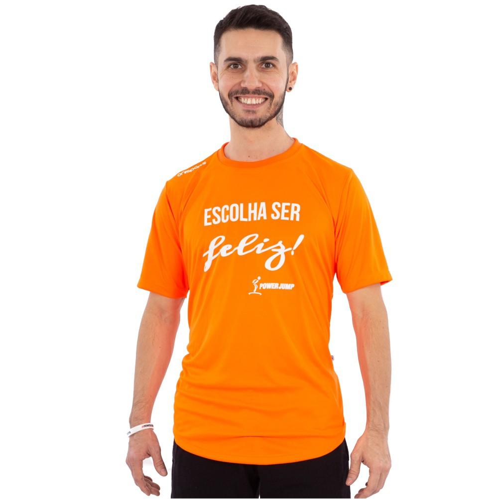 Camiseta Power Jump Escolha Ser Feliz Masculina