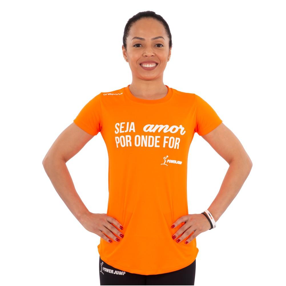 Camiseta Power Jump Seja Amor Feminina