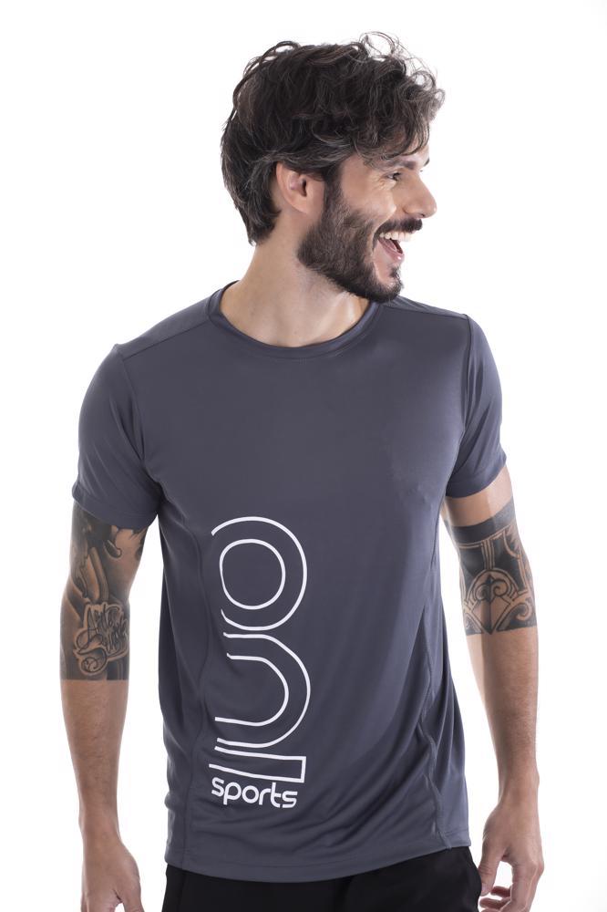 Camiseta Slim Masculina Dry Cinza