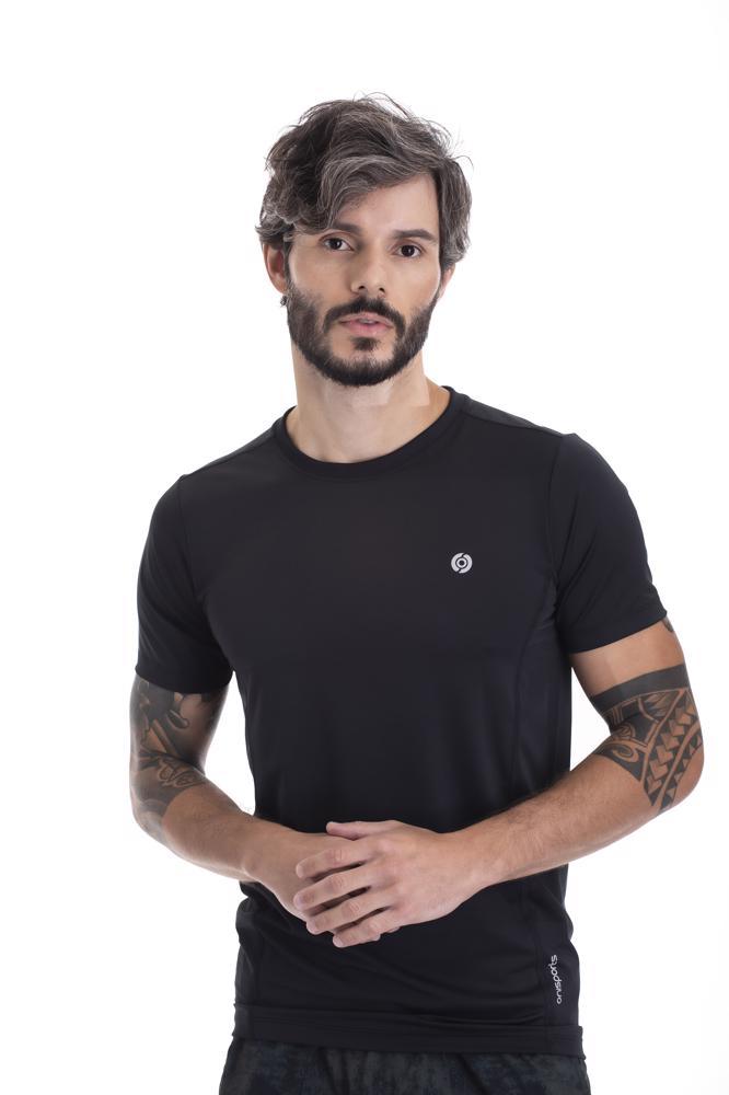 Camiseta Slim Masculina Dry Preta