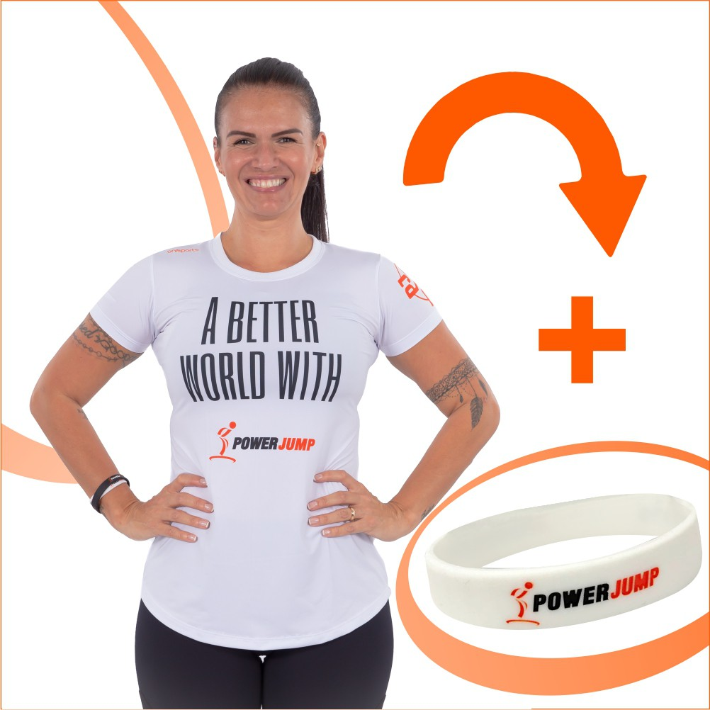 PJ United - 1 Camiseta Branca Feminina PJ United  + 1 pulseira