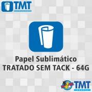 Papel Sublimático Tratado 64g Sem Tack - 1,10mt x 100mt