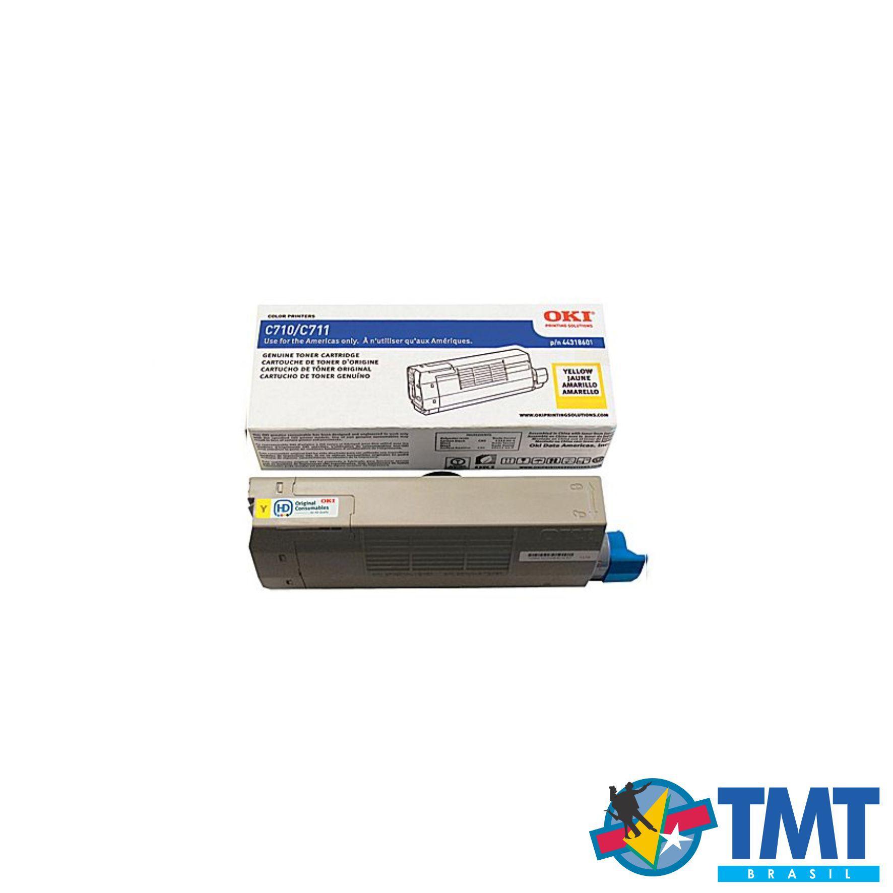 Cartucho de Toner Amarelo OKI C711 - Alta Capacidade