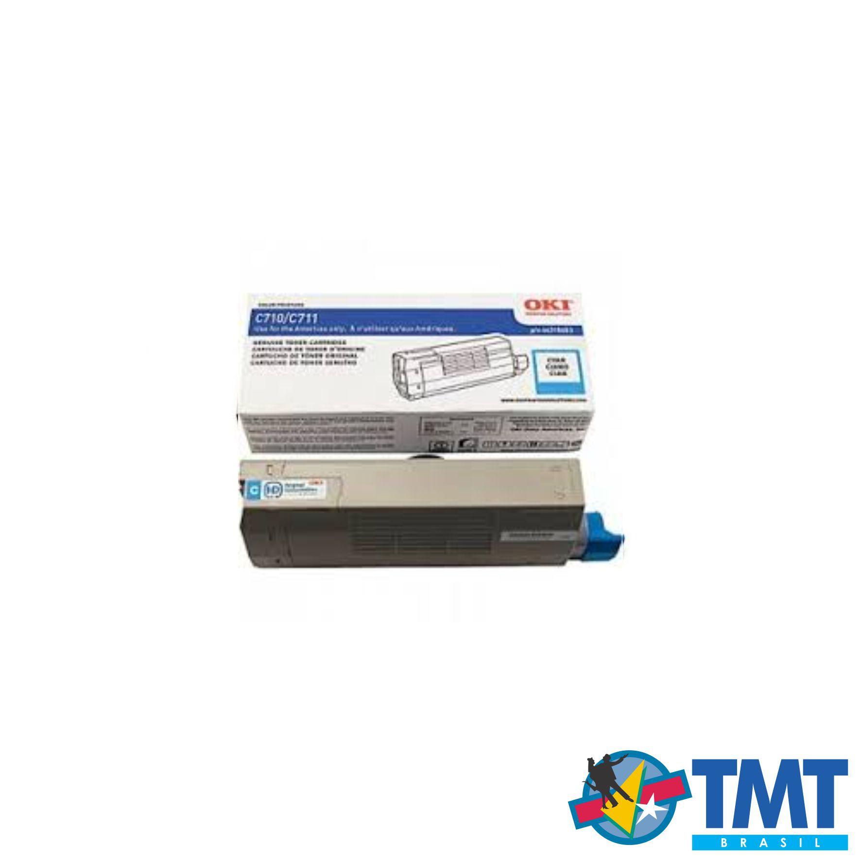 Cartucho de Toner Ciano OKI C711 - Alta Capacidade
