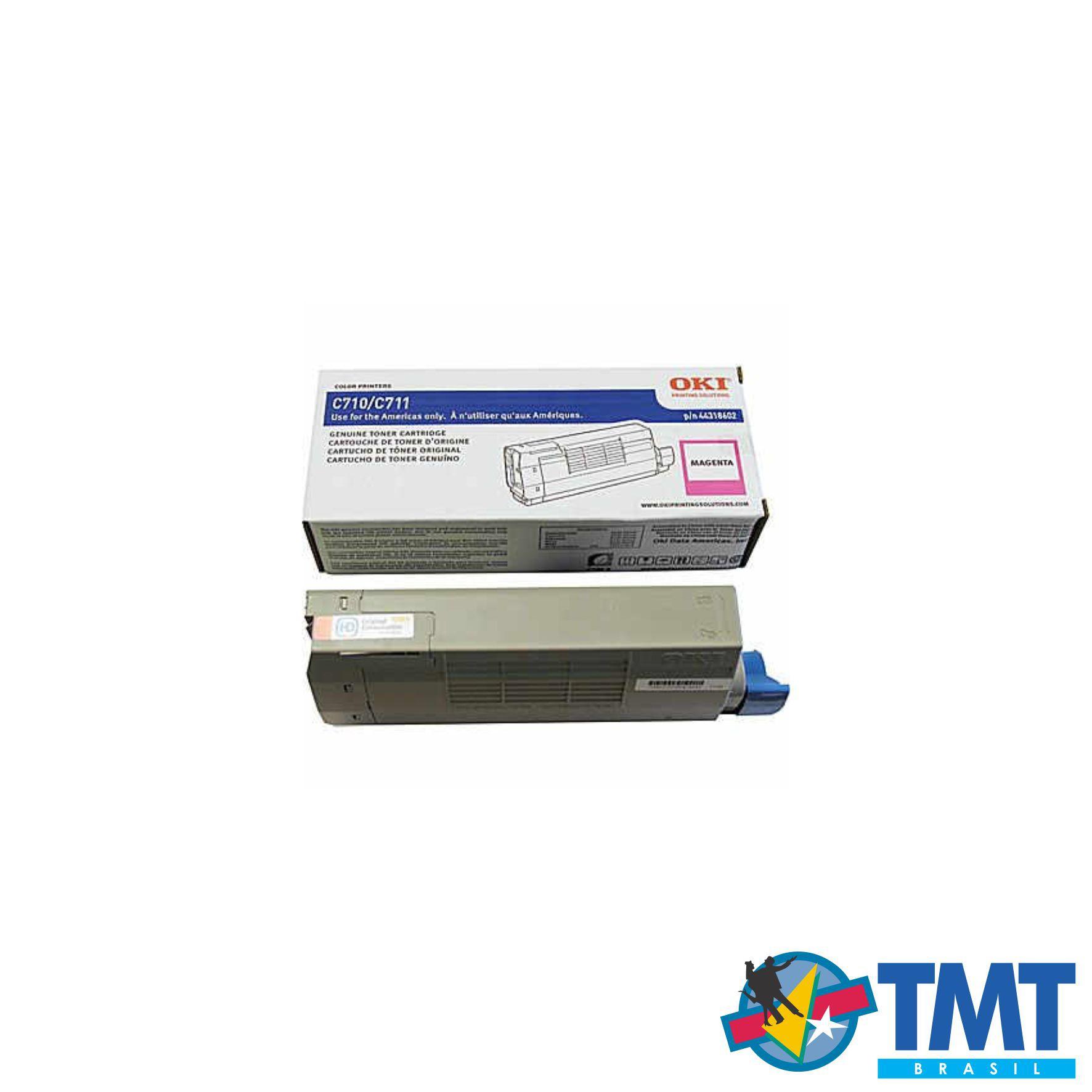 Cartucho de Toner Magenta OKI C711 - Alta Capacidade