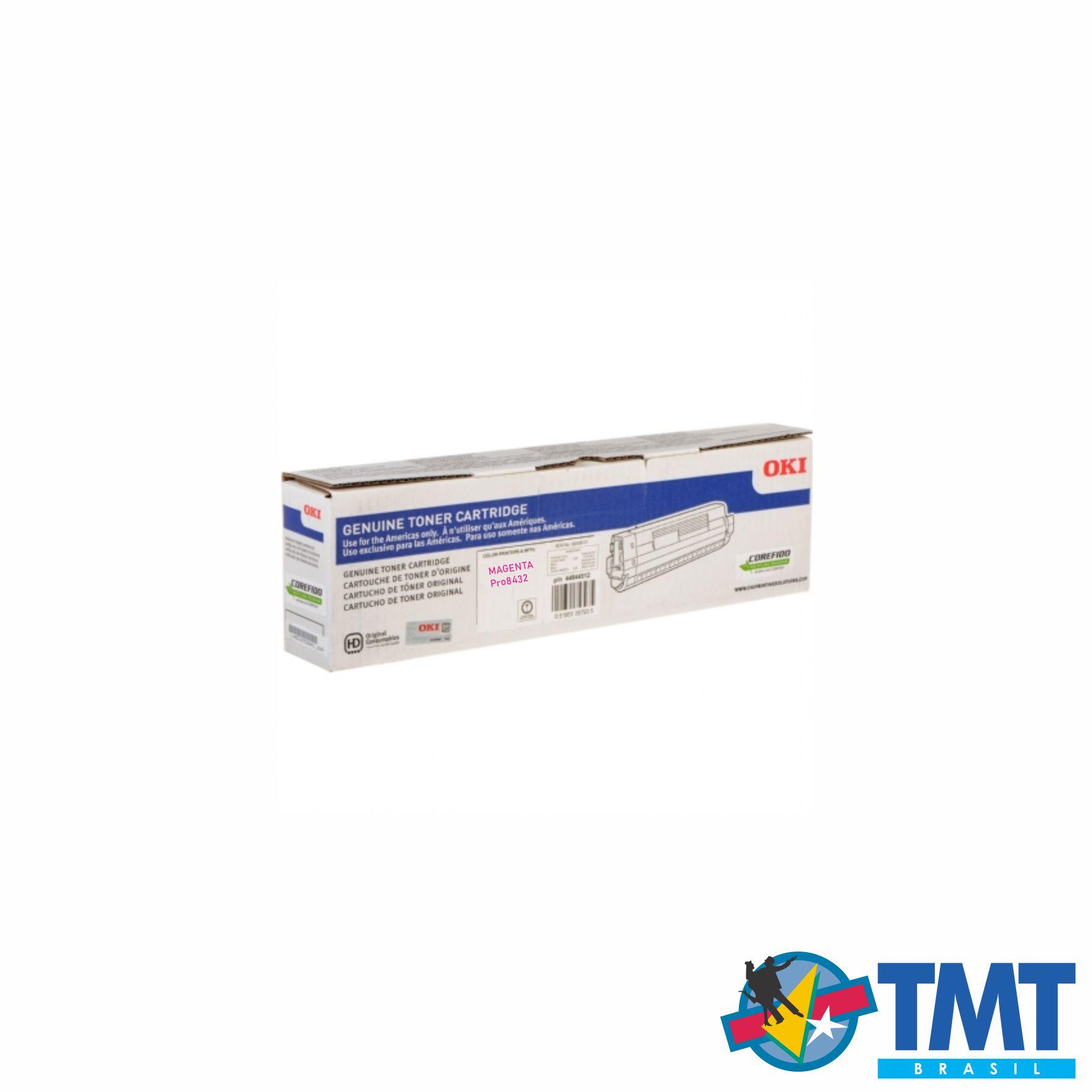 Cartucho de Toner Magenta OKI PRO8432 - Alta Capacidade