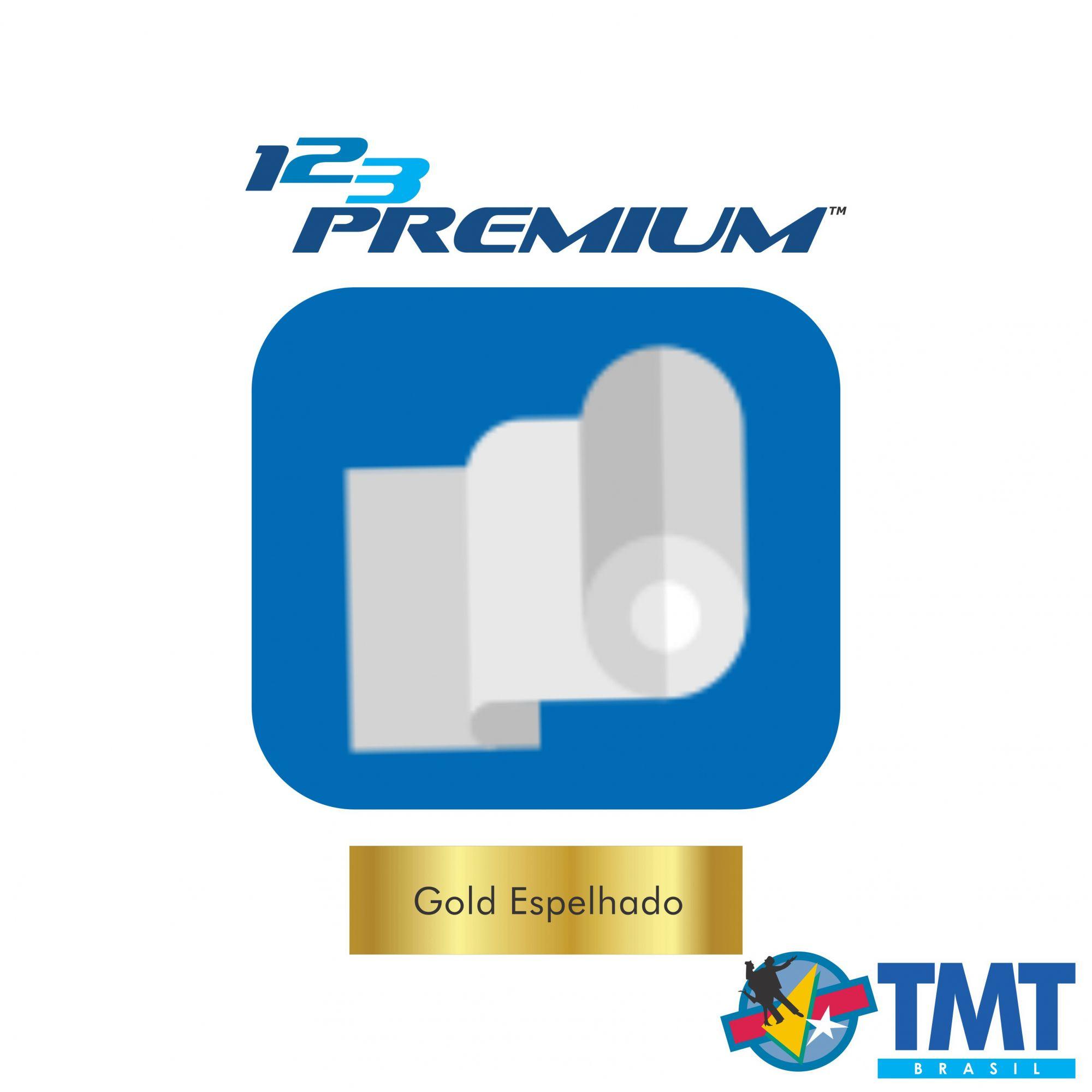 Filme de Recorte – 123 Premium – Dourado Espelhado - 1 metro (linear) 50x100cm