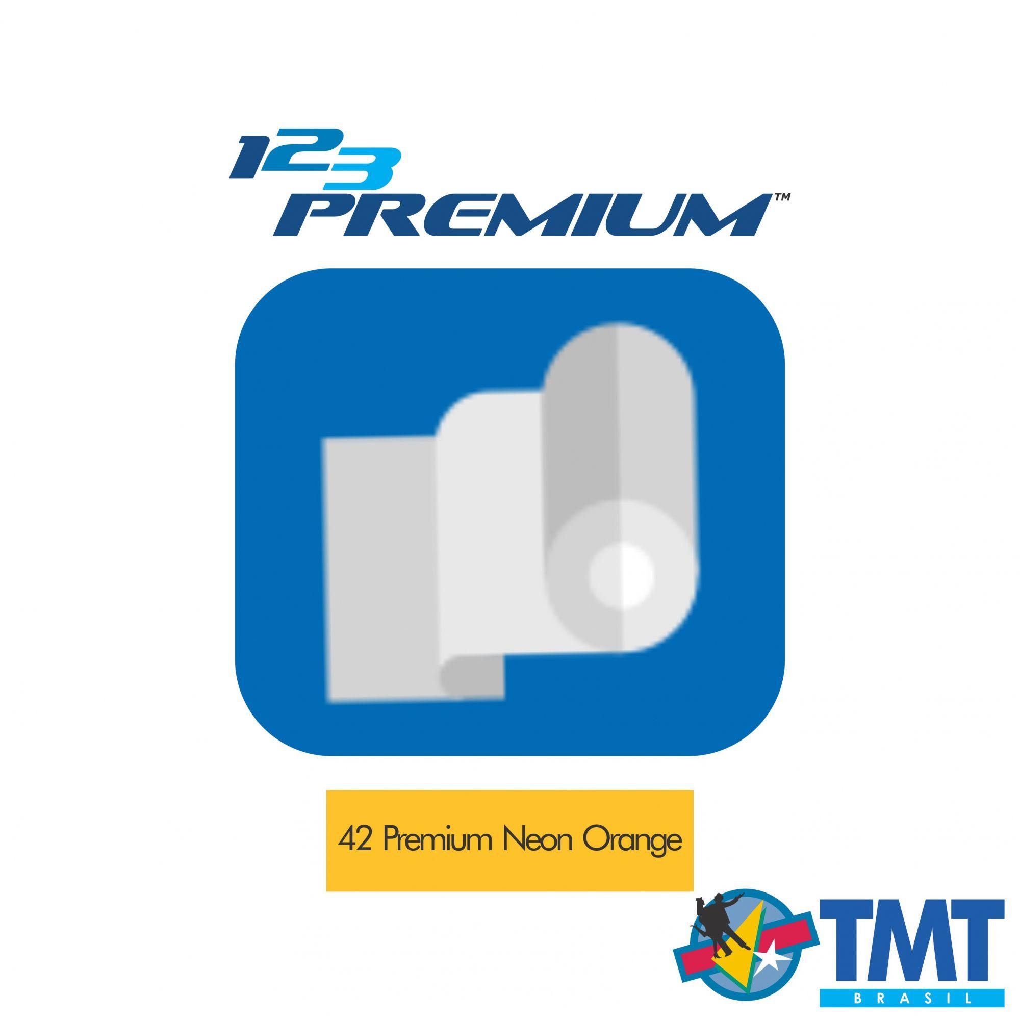 Filme de Recorte – 123 Premium – Laranja Neon - 1 metro (linear) 50x100cm
