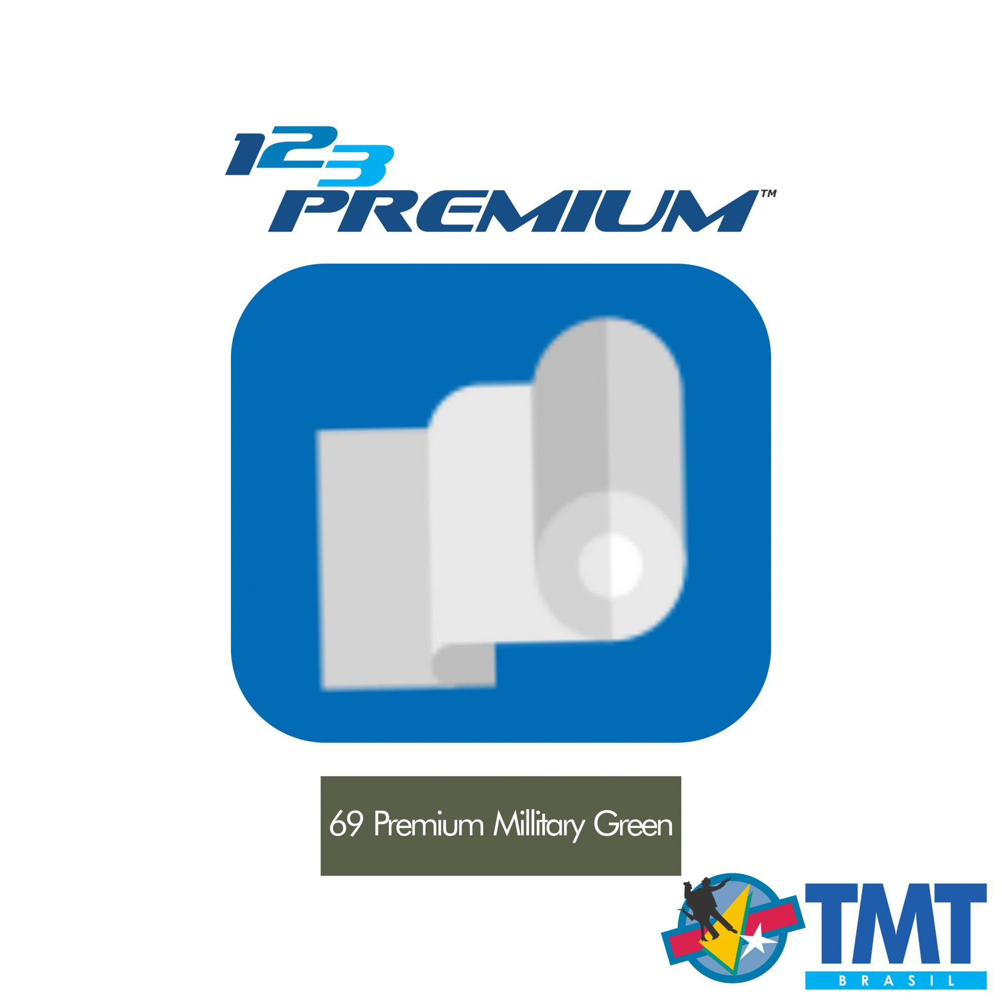 Filme de Recorte – 123 Premium – Verde Militar - 1 metro (linear) 50x100cm