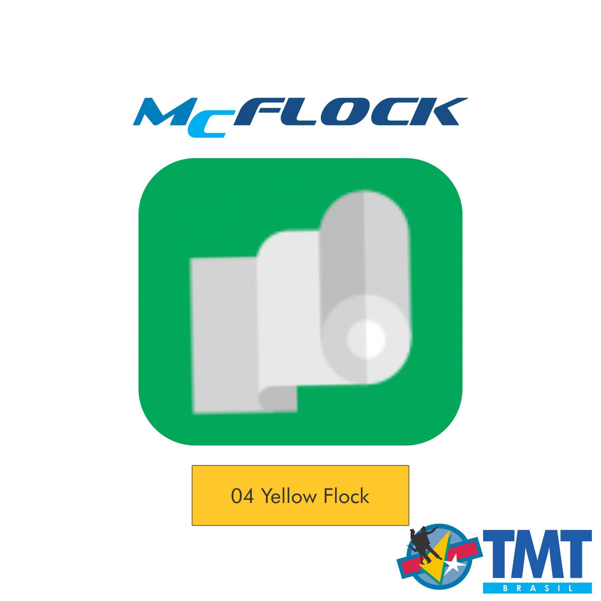Filme de Recorte Flocado – MagicFlock - Amarelo – 1 metro (linear) 50x100cm