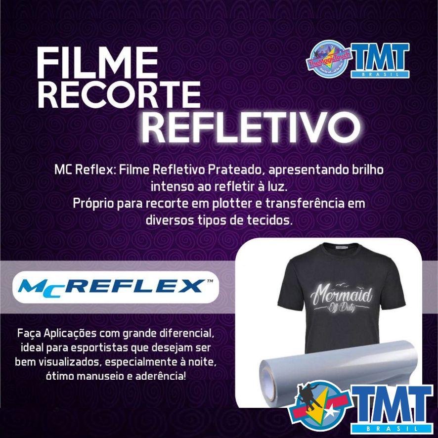 Filme de Recorte Refletivo  MagicReflex  1 metro (linear) 50x100cm  Prata