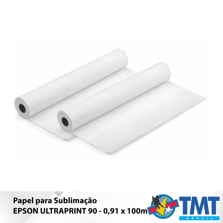 Papel Sublimático Epson UltraPrint 90 – 0,91X100m
