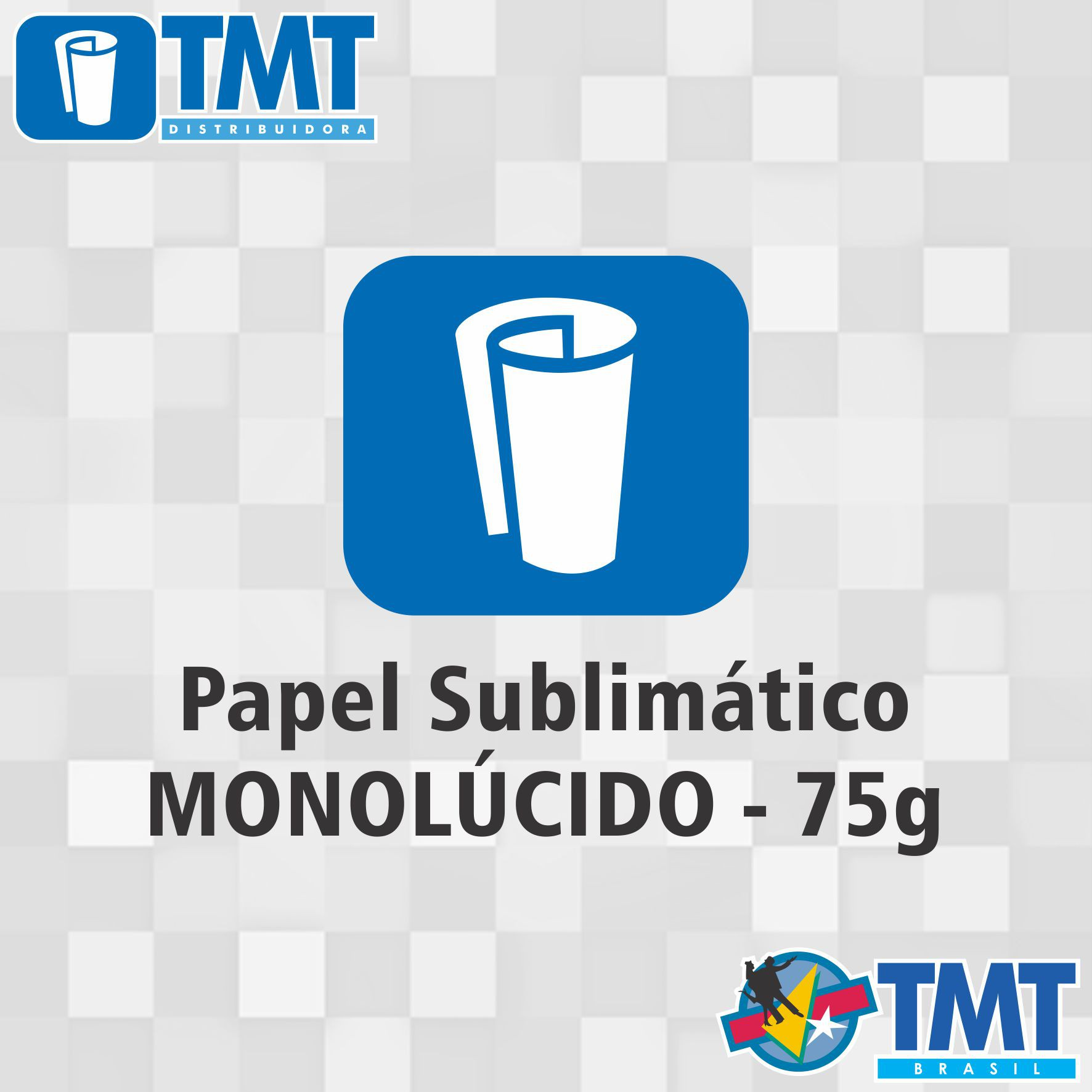 Papel Sublimático Monolucido - 75g - 1,60mt x 200mt