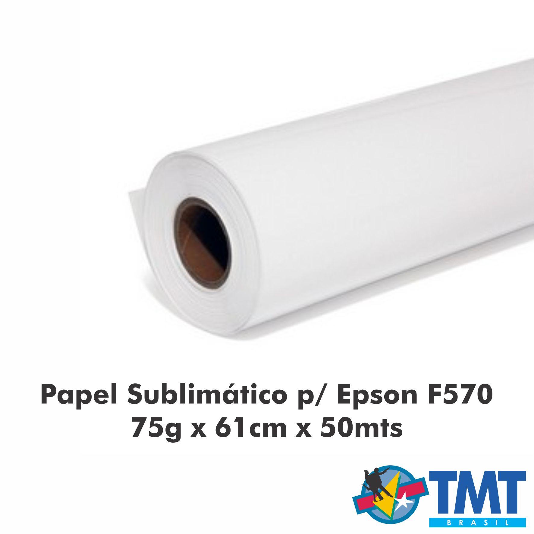 Papel Sublimático Para Epson F570 75g - 61cm x 50mt