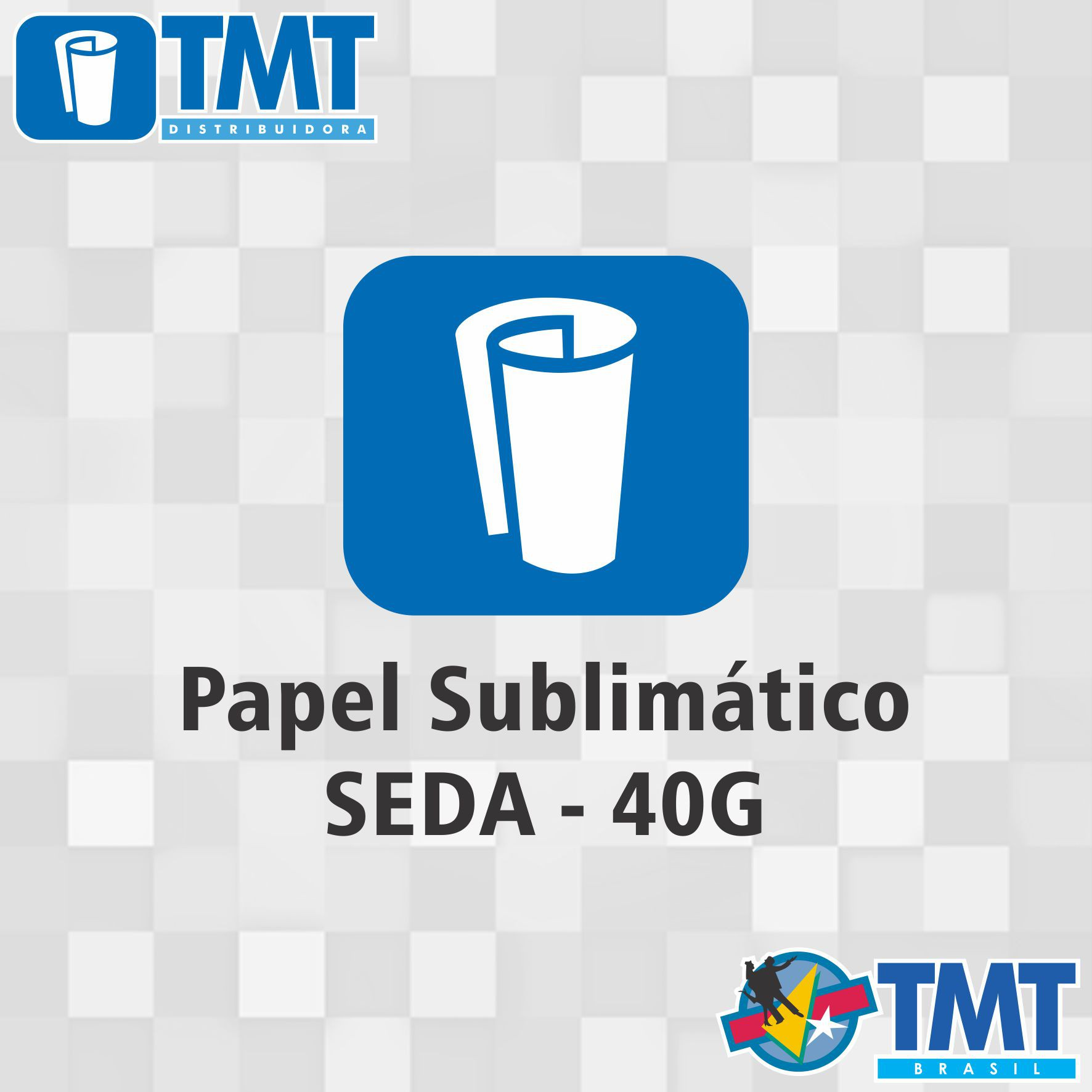 Papel Sublimático Seda - 40g- 1,60mt x 250mt