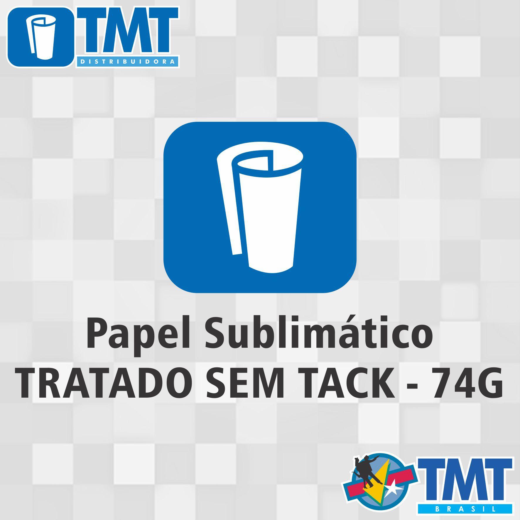 Papel Sublimático Tratado 74g Sem Tack - 1,10mt x 100mt