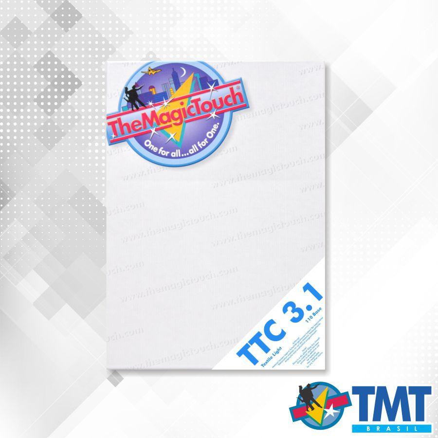 Transfer TTC 3.1 A4 R - 100 folhas – Transfer para impressora Laser para tecidos brancos ou claros
