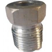 """Niple - Rosca Externa 10mm Aluminio  """"o""""ring"""" Succao"""