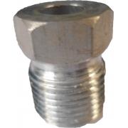 """Niple - Rosca Externa 10Mm Aluminio  """"O""""Ring"""" Succao Rosca Externa 10Mm Aluminio  *O*Ring* Succao"""