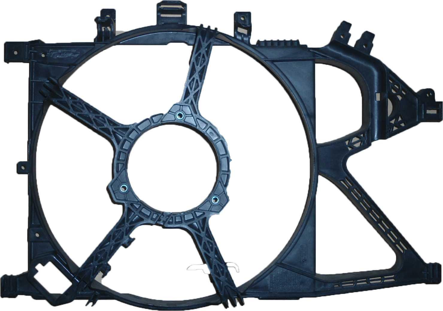 """Defletor - Corsa/Montana 0206 Radiador """"Para Dois Eletros"""""""