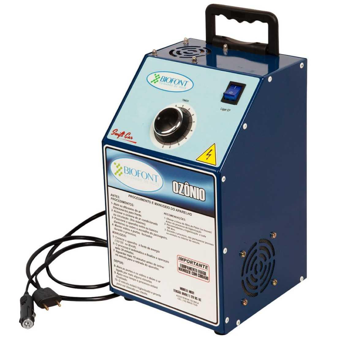 Maquina Higienização Ozonio Automotivo Bivolt/12V Mecar