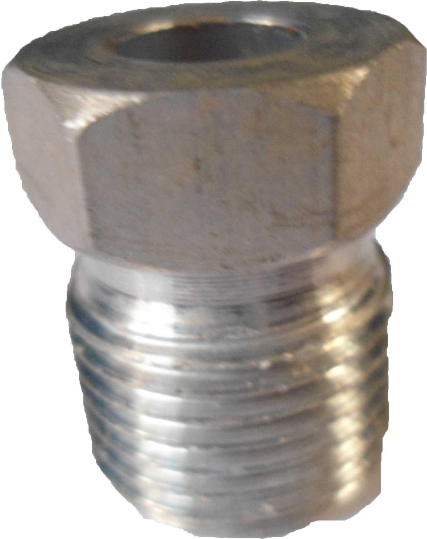 """Niple - Rosca Externa 6Mm Aluminio  """"O""""Ring"""" Liquido"""