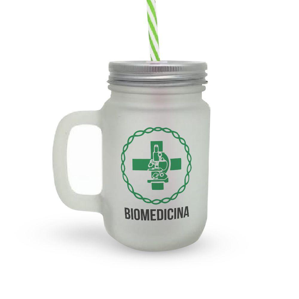 Caneca Canudo Profissão Biomedicina