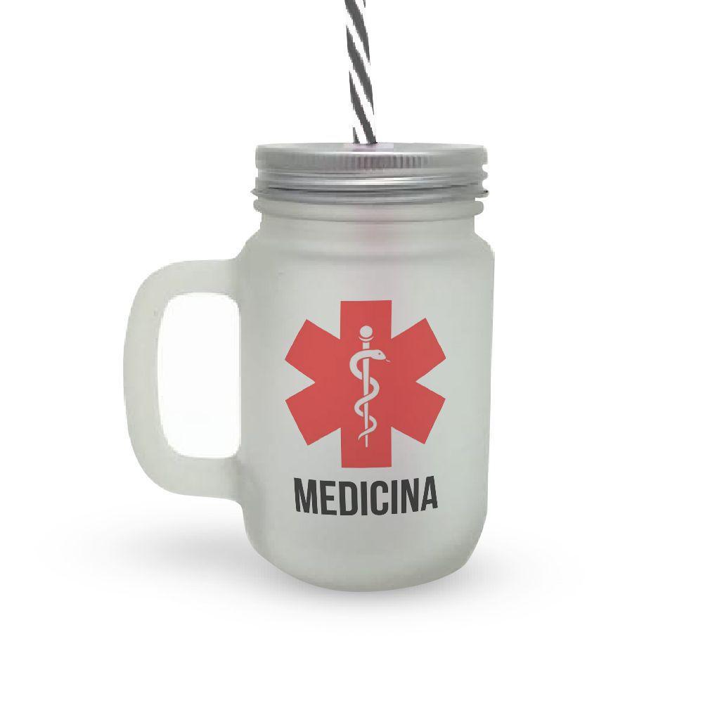 Caneca Canudo Profissão Medicina