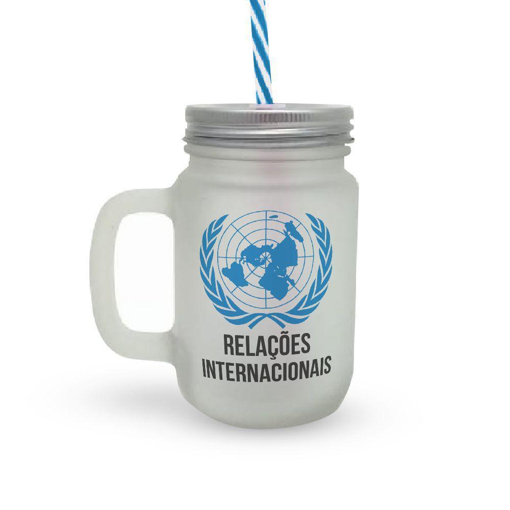 Caneca Canudo Profissão Relações Internacionais