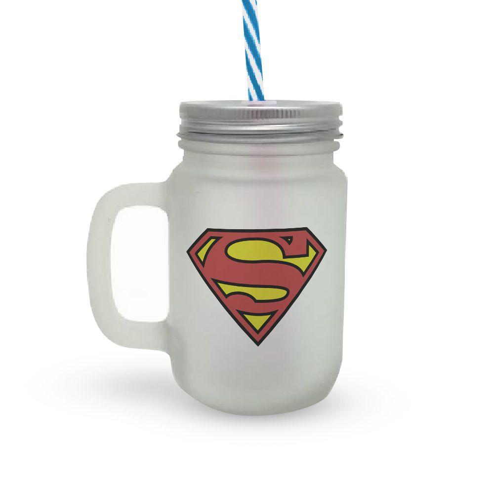 Caneca Canudo Superman